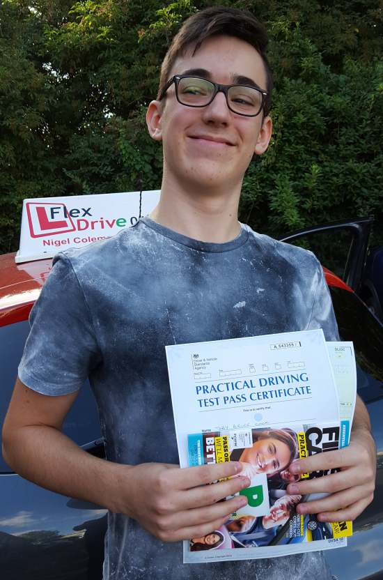 Driving Lessons in Northampton   Toby passed with Flexdrive Driving School