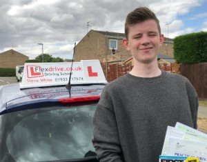 Driving Lessons in Kettering | Callum passed 1st time with Flexdrive Driving School