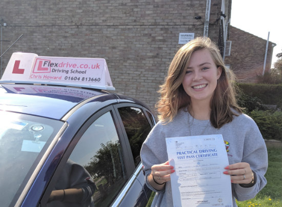 Driving Lessons in Wellingborough   Ellie passed 1st time with Flexdrive driving School