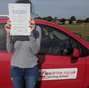 Automatic Driving Lessons in Wellingborough | Leah passed with Flexdrive Driving Lessons