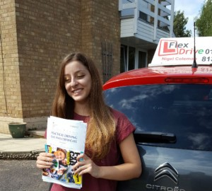 Driving Lessons in Kettering | Mariella passed with Flexdrive Driving School