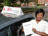 Automatic Driving lessons in Kettering and Corby | Veronica passed with Flexdrive Driving School