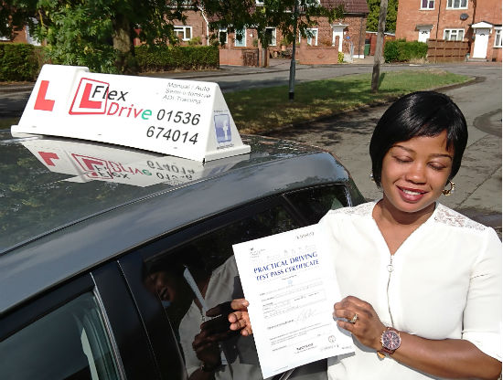 Automatic Driving lessons in Kettering and Corby   Veronica passed with Flexdrive Driving School