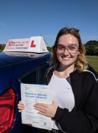 Driving Lessons Wellingborough | Amelia passed 1st time with 0 faults with Flexdrive Driving School