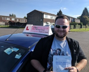 Driving Lessons Wellingborough | Craig passed 1st time with 0 faults with flexdrive Driving School