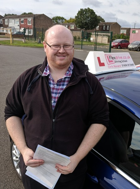 Driving Lessons Wellingborough | David Passed 1st time with Flexdrive Driving School