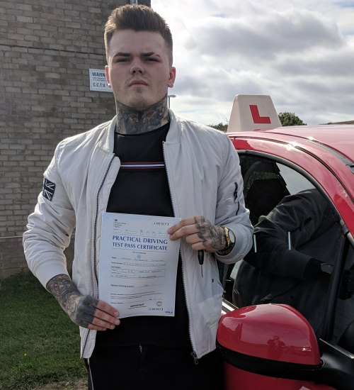 Automatic Driving Lessons Wellingborough | Hayden Johnston passed 1st time with Flexdrive Driving School