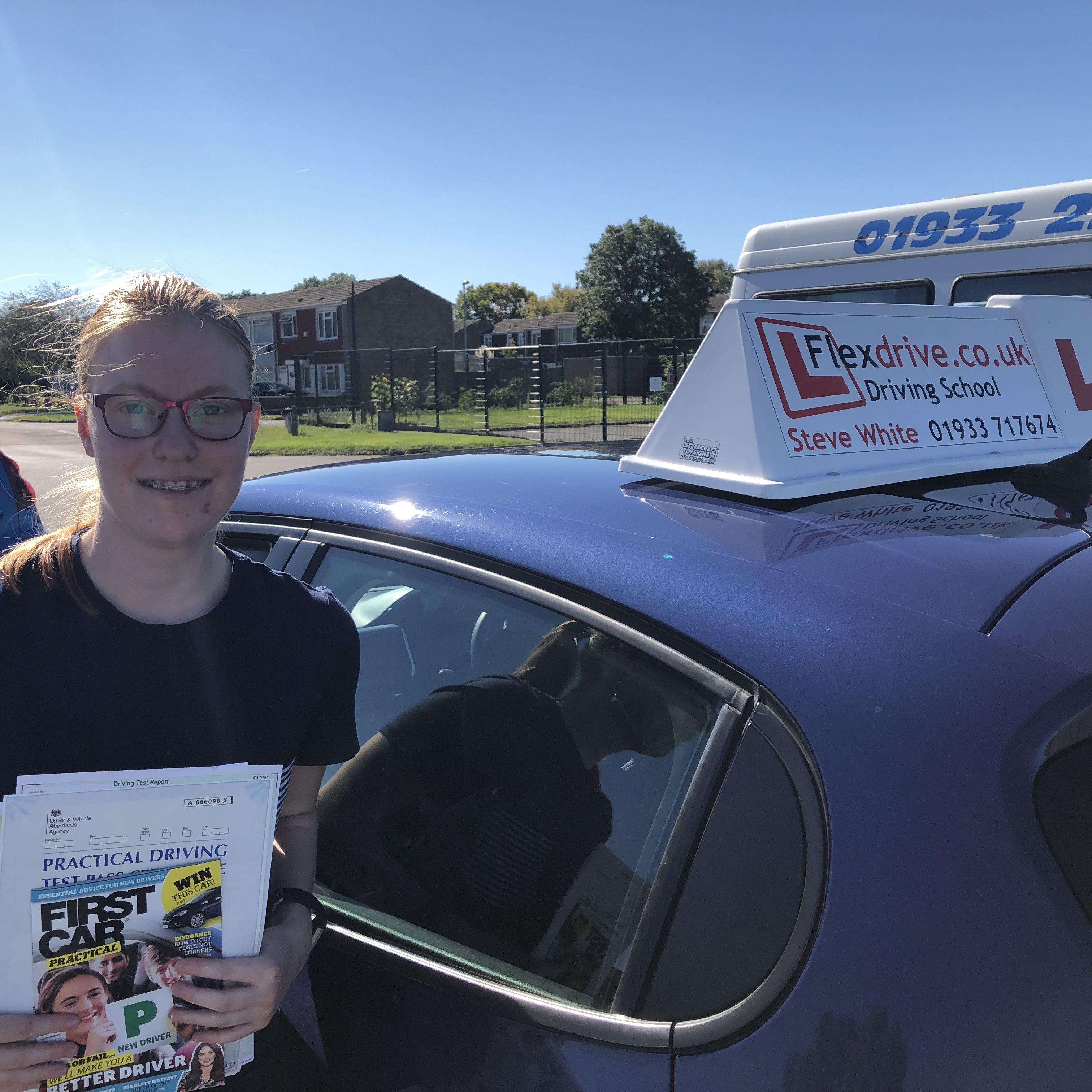 Driving Lessons Wellingborough | Kte passe with Flexdrive Driving School