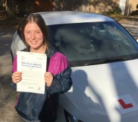 Driving Lessons in Beford | Storme passed with Flexdrive Driving School