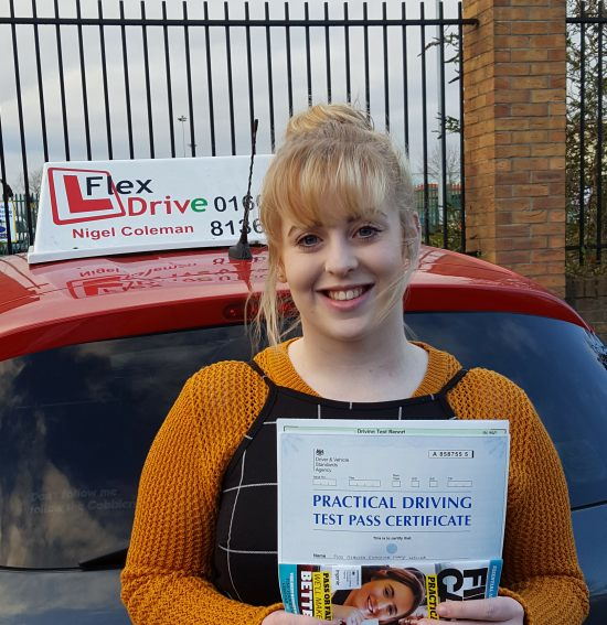 Driving Lessons in Northampton | Becca passed 1st time with Flexdrive Driving School