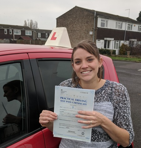 Automatic Driving Lessons in Wellingborough | Hollie passed 1st time with Flexdrive Driving Lessons