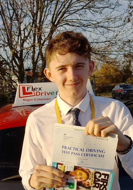 Driving Lessons In Kettering   Myles passed with Flexdrive Driving School