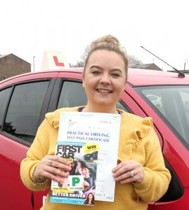 Automatic Driving Lessons in Wellingborough | Clare passed 1st time with Flexdrive Driving School
