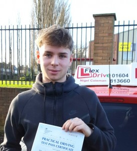 Driving Lessons in Northampton | Adam Passed with Flexdrive Driving School