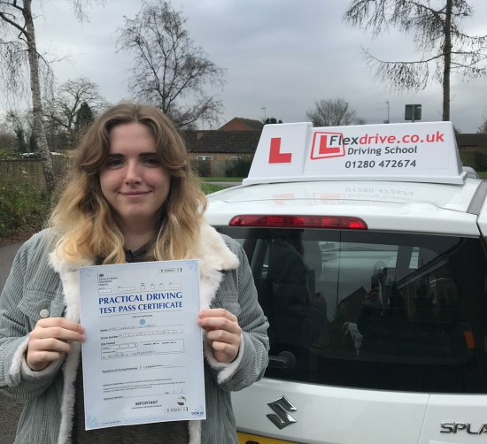 Driving Lessons Northampton   Charlie passed with Flexdrive Driving School