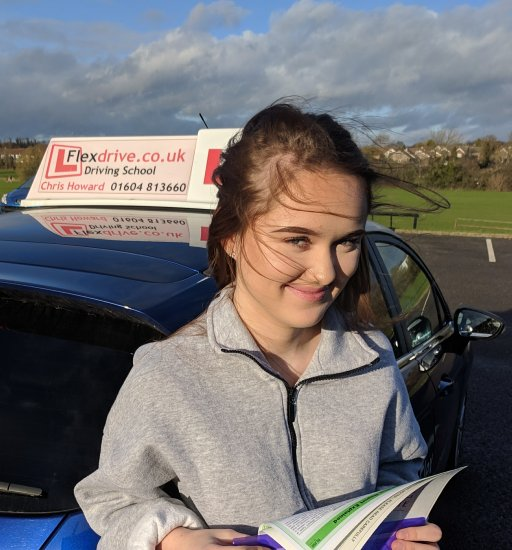 Driving Lessons Wellingborough   Elise passed 1st time with Flexdrive Driving School