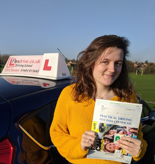 Driving Lessons Wellingborough   Nat passed with Flexdrive Driving School