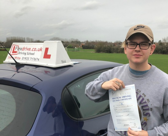 Driving Lessons Wellingborough   Rhys passed with Flexdrive Driving School