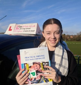 Driving Lessons in Wellingborough | Sarah passed with flexdrive Driving School