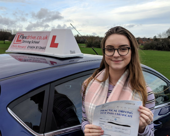 Driving Lessons in Wellingborough | Abi passes 1st time with Flexdrive Driving School