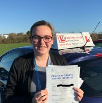 Driving Lessons Wellingborough | Ellie passed 1st time with Flexdrive Driving School