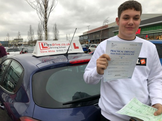 Driving Lessons in Kettering | Jordan passed with Flexdrive Driving School