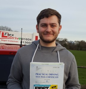 Driving Lessons in Wellingborough   Tom passed with Flexdrive Driving School