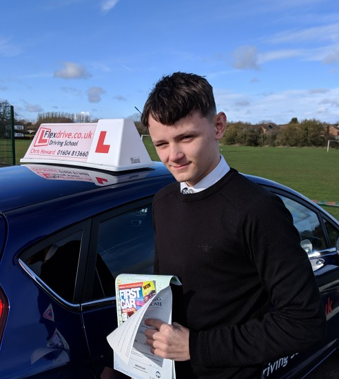 Driving Lessons in Wellingborough   Charles passed with Flexdrive Driving School