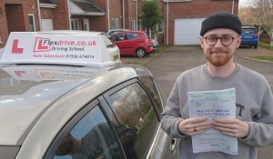 Automatic Driving Lessons in Kettering | Connor passed with Flexdrive Driving School