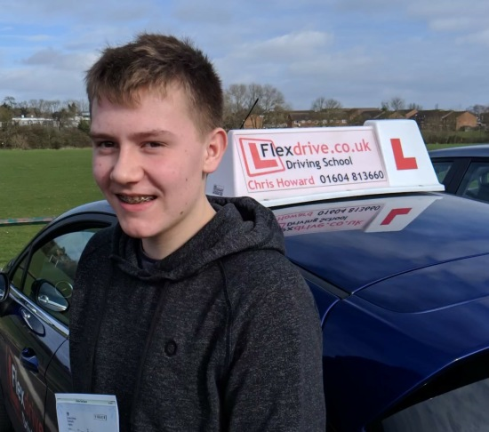 Driving lessons in Wellingborough   James passes with Flexdrive Driving school