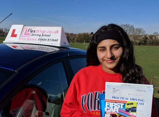 Driving Lessons Wellingborough   Sukhi passed with Flexdrive Driving School