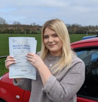 Automatic Driving lessons in Wellingborough | Dani passed 1st time with Flexdrive Driving School