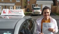 Automatic Driving Lessons in Kettering | Olga passed 1st time with Flexdrive Driving School