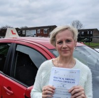 Automatic Driving Lessons in Wellingborough | Caron passed her test with Flexdrive Driving School