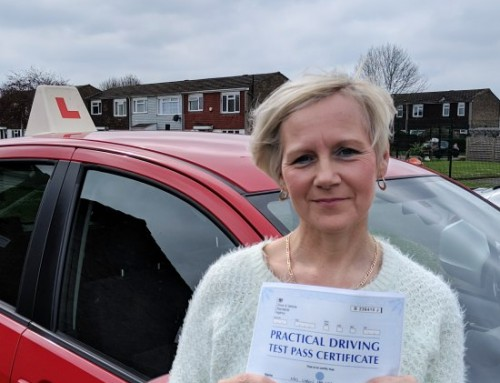 Caron Hawkes Passes 1st time | Automatic Driving lessons in Wellingborough | 09-04-2019