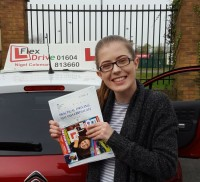Driving Lessons in Northampton | Courtney passed 1st time with Flexdrive Driving School