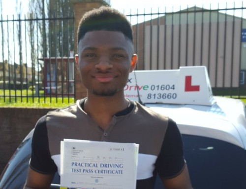 Omar Williams Passes | Driving lessons in Northampton | 11-04-2019