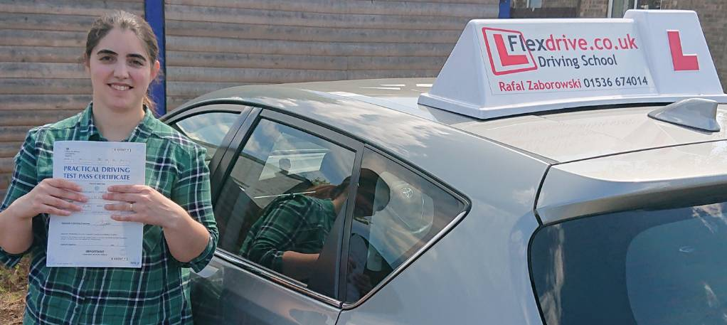 Automatic Driving Lessons in Corby | Fernanda passed with Flexdrive Driving School