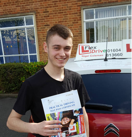 Driving lessons in Northampton | Joe passed 1st time with Flexdrive Driving School
