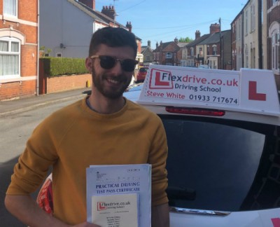 Driving Lessons in Kettering   Joe passes with Flexdrive driving school