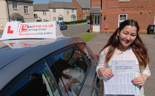 Automatic Driving Lessons Kettering | Nillab passed with Flexdrive Driving School