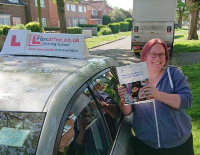 Automatic Driving Lessons in Kettering   Viktoria passed 1st time with Flexdrive Driving School