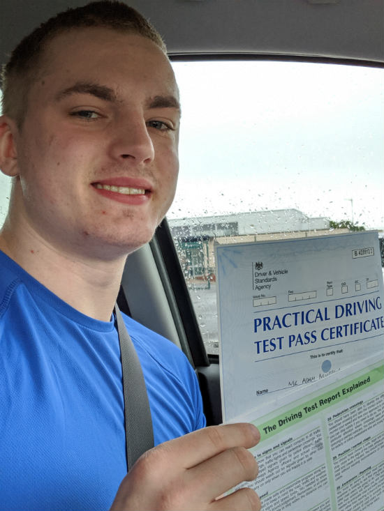 Automatic Driving Lessons in Wellingborough | Adam passed with flexdrive Driving School