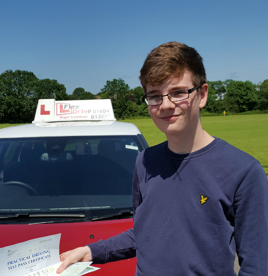 Driving Lessons in Wellingborough   Alex passed 1st time with Flexdrive driving School