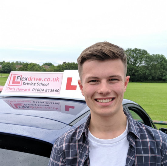 Driving Lessons in Wellingborough   Jenson passed with Flexdrive Driving School