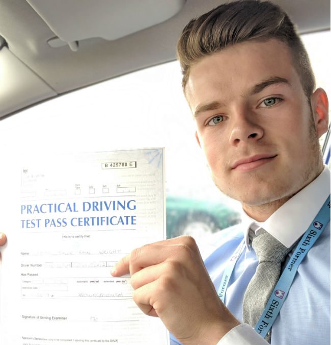 Driving Lessons Wellingborough   Lewis passed with Flexdrive Driving School