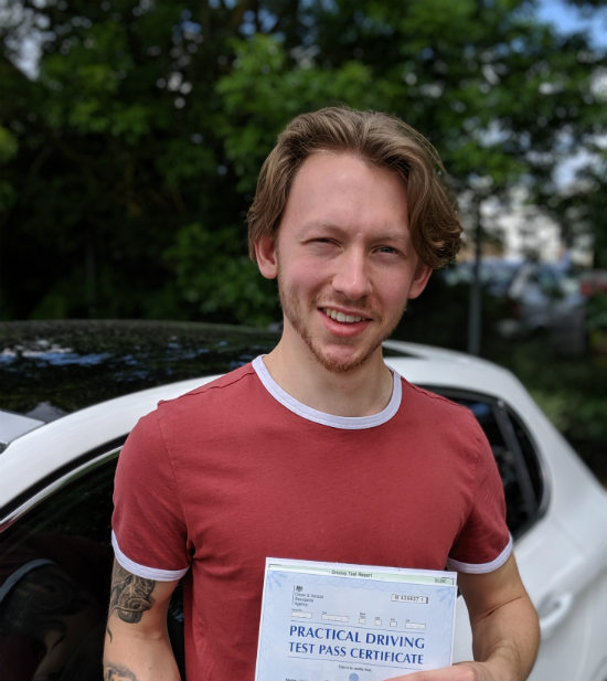 Driving Lessons in Kettering   Mason passed with Flexdrive Driving School