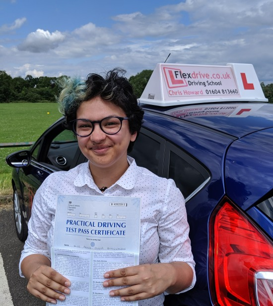 Driving Lessons in Wellingborough   Anna passes 1st time with Flexdrive Driving School