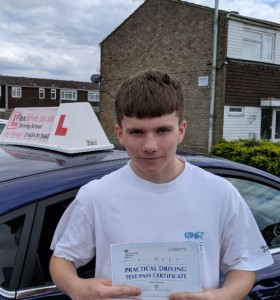 Driving Lessons in Wellingborough | Jack passed 1st time with Flexdrive Driving School