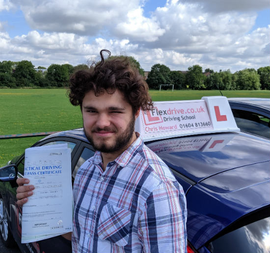 Driving Lessons in Wellingborough | Owen passed 1st time with Flexdrive Driving School